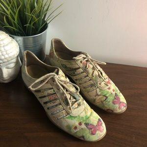 Stuart Weitzman Rare Butterfly Watercolor Shoes